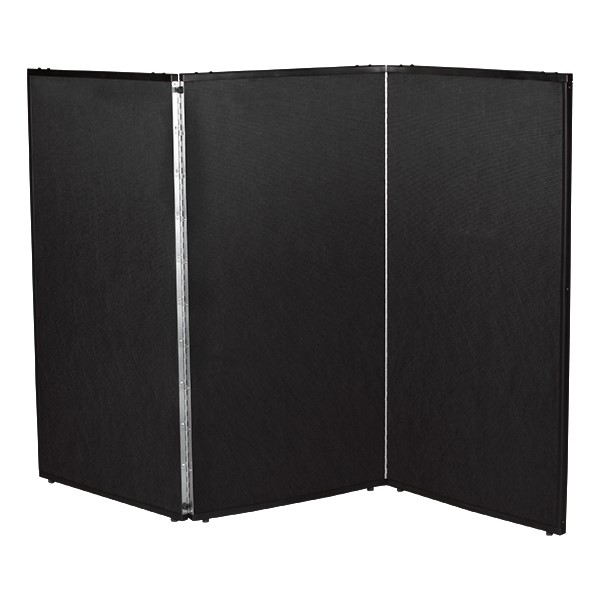 "3' 7"" H Folding Display Partition (5' L) - True black"