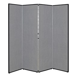 "5' 7"" H Folding Display Partition (6' 8"" L) - Smoky gray"