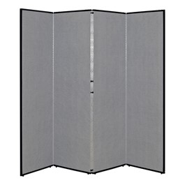 """3\' 7\"""" H Folding Display Partition (6\' 8\"""" L) - Smoky gray"""
