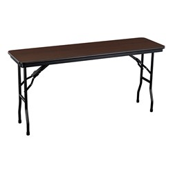 Rectangle High-Pressure Laminate Top Folding Training Table w/ Ballard Plastic Stack Chairs - Table