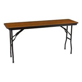 "Rectangle High-Pressure Laminate Top Folding Training Table (18\"" W x 60\"" L) - Walnut"