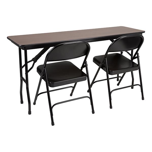 Rectangle High Pressure Laminate Top Folding Training Table W/ Heavy Duty  Steel Folding