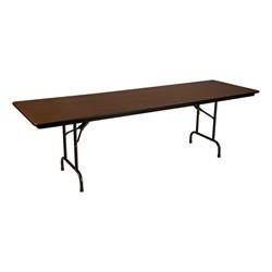 Rectangle High Pressure Laminate Top Folding Table 30 W X 96 L