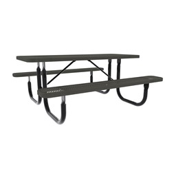 Rectangle Picnic Table-Dhown cn Furniture\Nor-Nw101-D6-Black