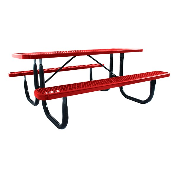 Heavy-Duty Picnic Table w/ Diamond Expanded Metal (8' L)