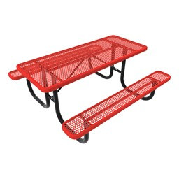 Rectangle Picnic Table-Phown cn Furniture\Nor-Nw101-P8-Red