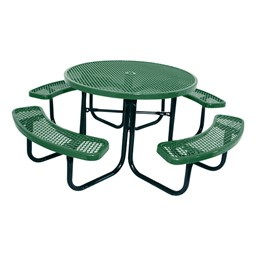 Round Picnic Table w/ Diamond Expanded Metal