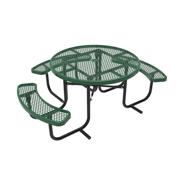 ADA Round Picnic Table w/ Diamond Expanded Metal
