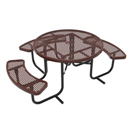ADA Round Picnic Table w/ Round Perforation