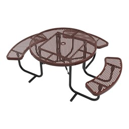 ADA Round Picnic Table - Round Perforations