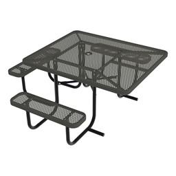 ADA Square Picnic Table w/ Diamond Expanded Metal