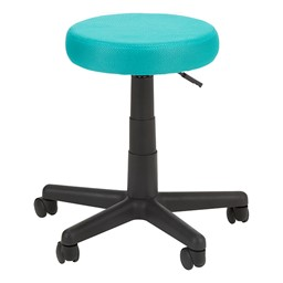 Adjustable-Height Colorful Mesh Utility Stool - Teal