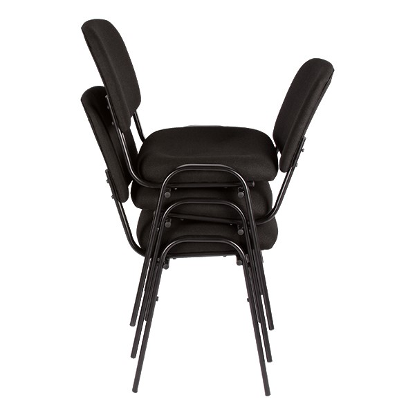 Fabric Stacking Guest Chair - Multiple units shown stacked