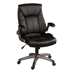 Executive Chair w/ Flip-Up Arms - Black