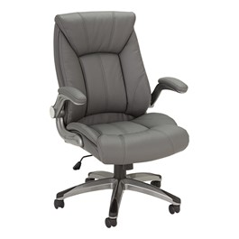 Executive Chair w/ Flip-Up Arms - Gray
