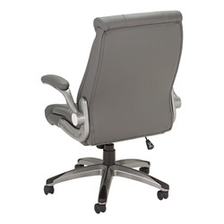 Executive Chair w/ Flip-Up Arms - Gray - Black