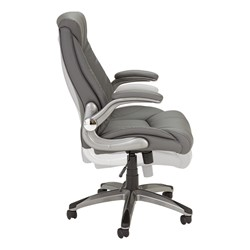 Executive Chair w/ Flip-Up Arms - Gray - Side