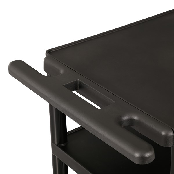 Adjustable-Height Plastic AV Cart w/ Power  - Handle