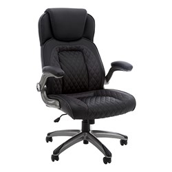High-Back Executive Chair w/ Flip-Up Arms