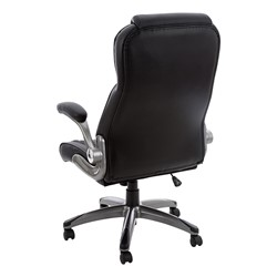 High-Back Executive Chair w/ Flip-Up Arms - Back