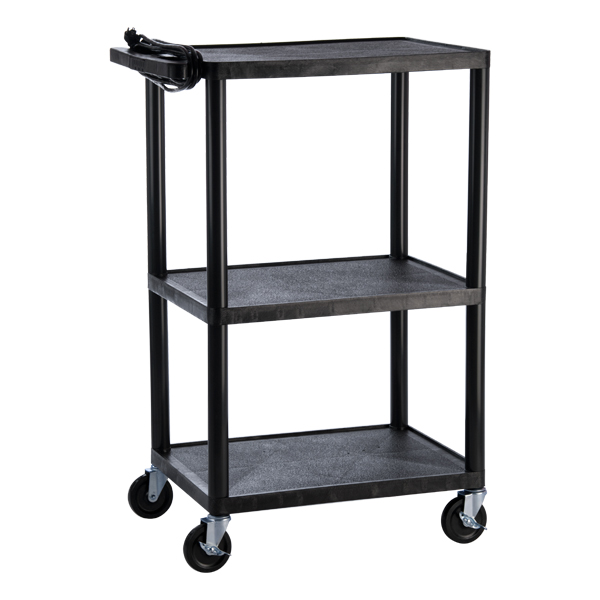 Norwood Adjustable-Height Plastic AV Cart