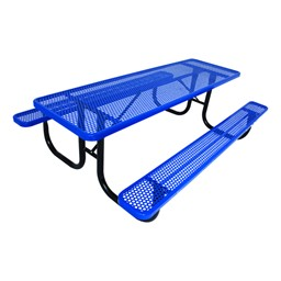 Rectangle Picnic Table w/ Round Perforation