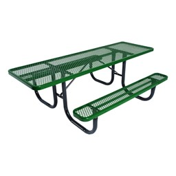 ADA Double-Sided Heavy-Duty Picnic Table w/ Diamond Expanded Metal