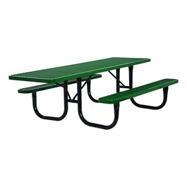 ADA Single-Sided Heavy-Duty Picnic Table w/ Diamond Expanded Metal (8\' L)