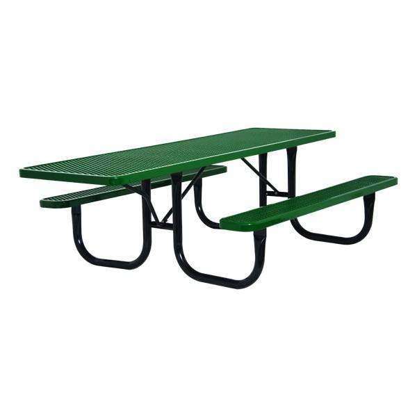 ADA Single-Sided Heavy-Duty Picnic Table w/ Diamond Expanded Metal (8' L)