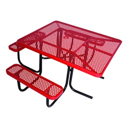 ADA Square Picnic Table w/ Round Perforations