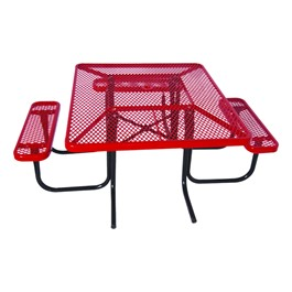 ADA Sqaure Picnic Table w/ Diamond Expanded Metal