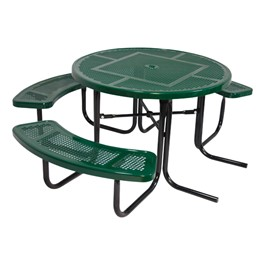 ADA Round Picnic Table w/ Round Perforations
