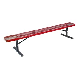Heavy-Duty Park Bench w/o Back - Diamond Expanded Metal - Portable (6\' L)