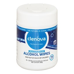 Multi-Purpose Wipes - Canister of 70 Wipes