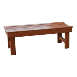 Recycled Plastic Bench w/o Back (4\' L)