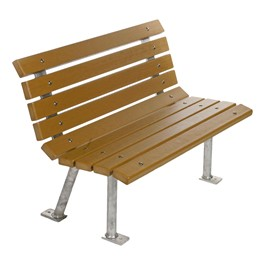 Recycled Plastic Park Bench (4\' L)