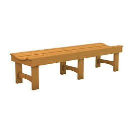 Recycled Plastic Bench w/o Back (6\' L)
