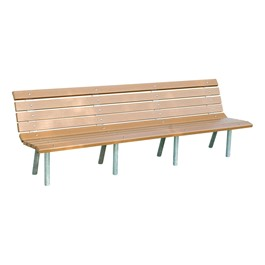 Recycled Plastic Park Bench (8\' L)