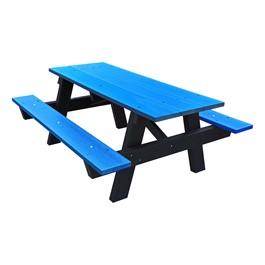 ADA A-Frame Recycled Plastic Picnic Table - Blue