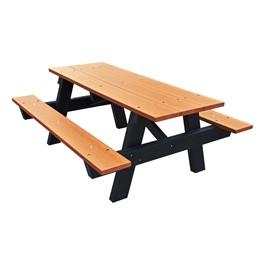 Recycled Plastic Picnic Table - 6\' Cedar