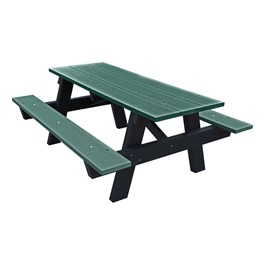 Recycled Plastic Picnic Table - 6\' Green