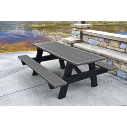 Recycled Plastic Picnic Table - 6' Gray