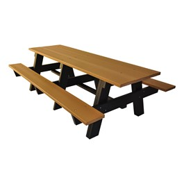 Recycled Plastic Picnic Table - 8\' Brown