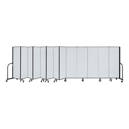 6' H Magnetic Whiteboard Tackable Portable Partition - 13 Panels