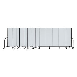 6\' H Whiteboard Tackable Portable Partition - 13 Panels