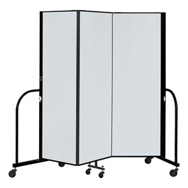 6\' H Magnetic Whiteboard Tackable Portable Partition - 3 Panels