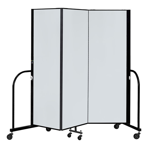 6' H Magnetic Whiteboard Tackable Portable Partition - 3 Panels