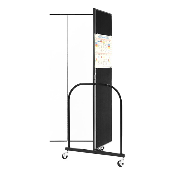 6' H Whiteboard Tackable Portable Partition - 3 Panels