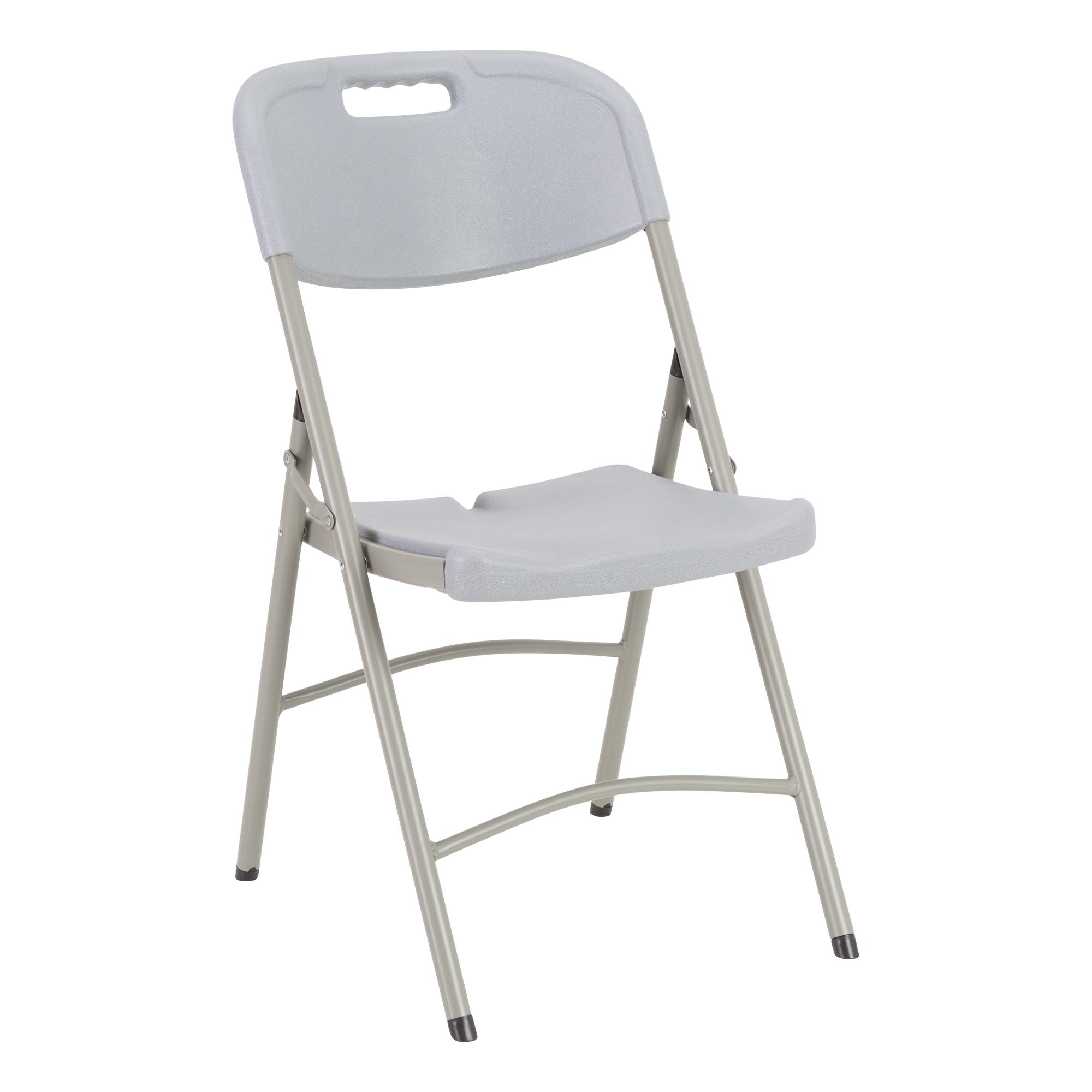Merveilleux Heavy Duty Indoor/Outdoor Blow Molded Folding Chair   Gray