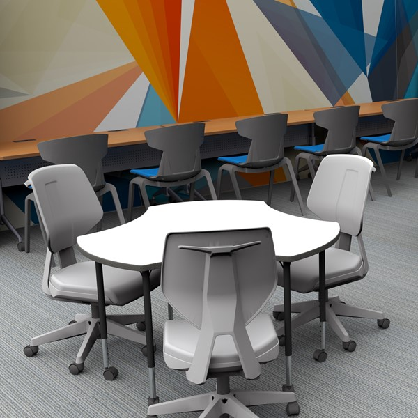 Bradley Office Chairs around a collaborative table